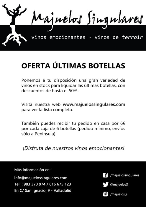 Oferta últimas botellas